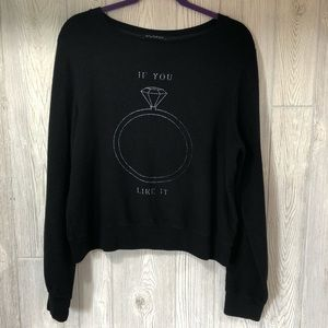 Wildfox If You Like It Ring Graphic Size Large